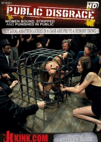 Public Disgrace: Hot Local Amateur Locked In A Cage...