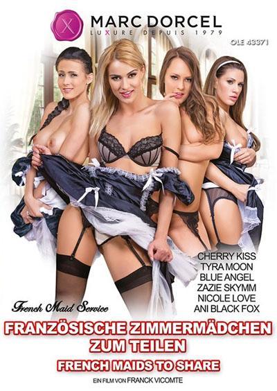 Französische Zimmermädchen zum Teilen